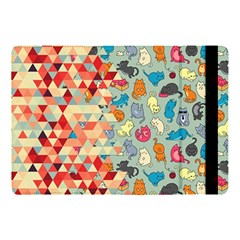 Hipster Triangles And Funny Cats Cut Pattern Apple Ipad 9 7 by EDDArt