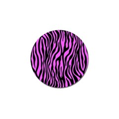 Zebra Stripes Pattern Trend Colors Black Pink Golf Ball Marker (4 Pack)