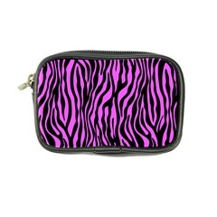 Zebra Stripes Pattern Trend Colors Black Pink Coin Purse by EDDArt