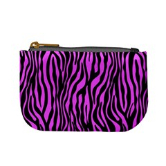 Zebra Stripes Pattern Trend Colors Black Pink Mini Coin Purses by EDDArt