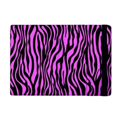Zebra Stripes Pattern Trend Colors Black Pink Apple Ipad Mini Flip Case by EDDArt