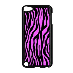 Zebra Stripes Pattern Trend Colors Black Pink Apple Ipod Touch 5 Case (black) by EDDArt