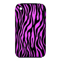Zebra Stripes Pattern Trend Colors Black Pink Iphone 3s/3gs by EDDArt