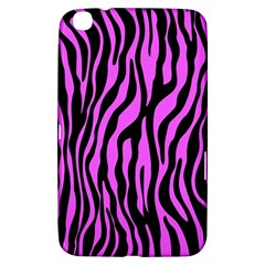 Zebra Stripes Pattern Trend Colors Black Pink Samsung Galaxy Tab 3 (8 ) T3100 Hardshell Case  by EDDArt