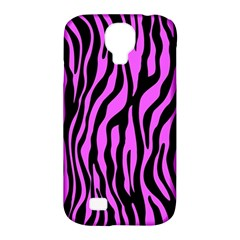 Zebra Stripes Pattern Trend Colors Black Pink Samsung Galaxy S4 Classic Hardshell Case (pc+silicone) by EDDArt