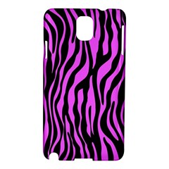 Zebra Stripes Pattern Trend Colors Black Pink Samsung Galaxy Note 3 N9005 Hardshell Case by EDDArt
