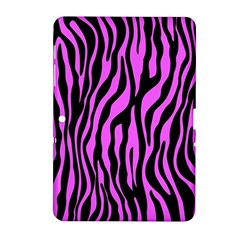 Zebra Stripes Pattern Trend Colors Black Pink Samsung Galaxy Tab 2 (10 1 ) P5100 Hardshell Case  by EDDArt