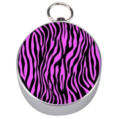 Zebra Stripes Pattern Trend Colors Black Pink Silver Compasses by EDDArt
