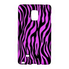 Zebra Stripes Pattern Trend Colors Black Pink Samsung Galaxy Note Edge Hardshell Case by EDDArt
