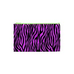 Zebra Stripes Pattern Trend Colors Black Pink Cosmetic Bag (xs) by EDDArt