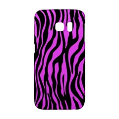 Zebra Stripes Pattern Trend Colors Black Pink Samsung Galaxy S6 Edge Hardshell Case by EDDArt
