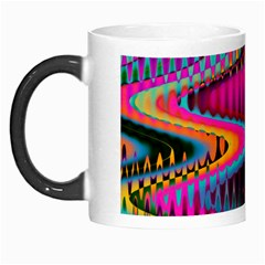 Multicolored Wave Distortion Zigzag Chevrons Morph Mugs by EDDArt