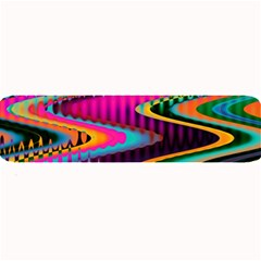 Multicolored Wave Distortion Zigzag Chevrons Large Bar Mats by EDDArt