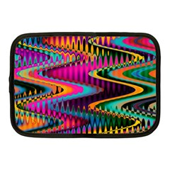 Multicolored Wave Distortion Zigzag Chevrons Netbook Case (medium)  by EDDArt