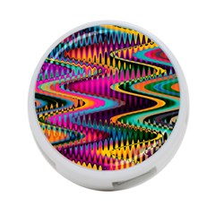 Multicolored Wave Distortion Zigzag Chevrons 4 Port Usb Hub (one Side) by EDDArt