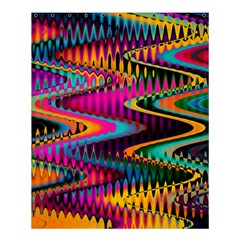 Multicolored Wave Distortion Zigzag Chevrons Shower Curtain 60  X 72  (medium)  by EDDArt
