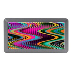 Multicolored Wave Distortion Zigzag Chevrons Memory Card Reader (mini) by EDDArt