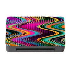 Multicolored Wave Distortion Zigzag Chevrons Memory Card Reader With Cf by EDDArt