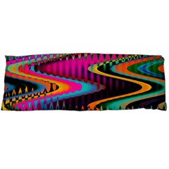 Multicolored Wave Distortion Zigzag Chevrons Body Pillow Case (dakimakura) by EDDArt