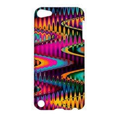 Multicolored Wave Distortion Zigzag Chevrons Apple Ipod Touch 5 Hardshell Case by EDDArt