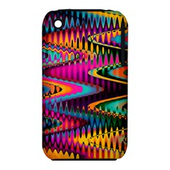 Multicolored Wave Distortion Zigzag Chevrons Iphone 3s/3gs by EDDArt