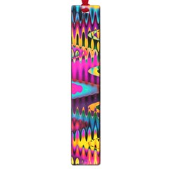 Multicolored Wave Distortion Zigzag Chevrons Large Book Marks by EDDArt