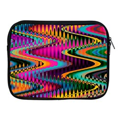 Multicolored Wave Distortion Zigzag Chevrons Apple Ipad 2/3/4 Zipper Cases by EDDArt
