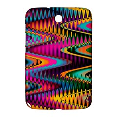 Multicolored Wave Distortion Zigzag Chevrons Samsung Galaxy Note 8 0 N5100 Hardshell Case  by EDDArt