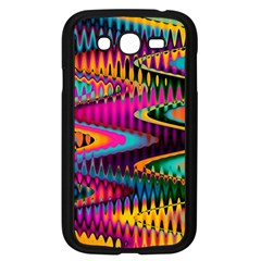 Multicolored Wave Distortion Zigzag Chevrons Samsung Galaxy Grand Duos I9082 Case (black) by EDDArt