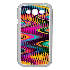Multicolored Wave Distortion Zigzag Chevrons Samsung Galaxy Grand Duos I9082 Case (white) by EDDArt