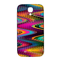 Multicolored Wave Distortion Zigzag Chevrons Samsung Galaxy S4 I9500/i9505  Hardshell Back Case by EDDArt