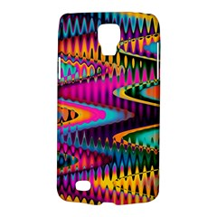 Multicolored Wave Distortion Zigzag Chevrons Samsung Galaxy S4 Active (i9295) Hardshell Case by EDDArt