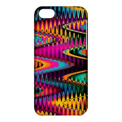 Multicolored Wave Distortion Zigzag Chevrons Apple Iphone 5c Hardshell Case by EDDArt