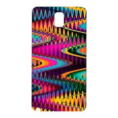 Multicolored Wave Distortion Zigzag Chevrons Samsung Galaxy Note 3 N9005 Hardshell Back Case by EDDArt