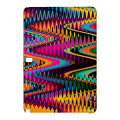 Multicolored Wave Distortion Zigzag Chevrons Samsung Galaxy Tab Pro 10 1 Hardshell Case by EDDArt