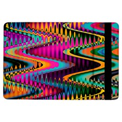 Multicolored Wave Distortion Zigzag Chevrons Ipad Air Flip by EDDArt