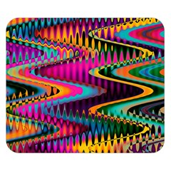 Multicolored Wave Distortion Zigzag Chevrons Double Sided Flano Blanket (small)  by EDDArt
