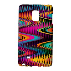 Multicolored Wave Distortion Zigzag Chevrons Samsung Galaxy Note Edge Hardshell Case by EDDArt