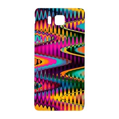 Multicolored Wave Distortion Zigzag Chevrons Samsung Galaxy Alpha Hardshell Back Case by EDDArt