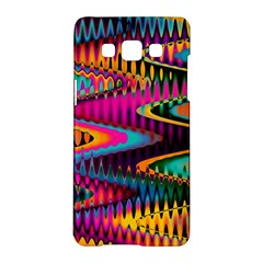 Multicolored Wave Distortion Zigzag Chevrons Samsung Galaxy A5 Hardshell Case  by EDDArt