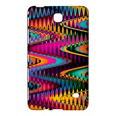 Multicolored Wave Distortion Zigzag Chevrons Samsung Galaxy Tab 4 (7 ) Hardshell Case  by EDDArt