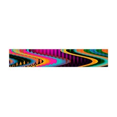 Multicolored Wave Distortion Zigzag Chevrons Flano Scarf (mini) by EDDArt