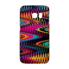 Multicolored Wave Distortion Zigzag Chevrons Samsung Galaxy S6 Edge Hardshell Case by EDDArt