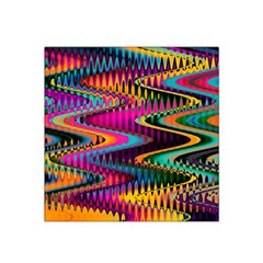 Multicolored Wave Distortion Zigzag Chevrons Satin Bandana Scarf by EDDArt