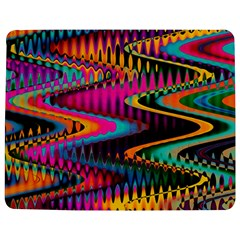 Multicolored Wave Distortion Zigzag Chevrons Jigsaw Puzzle Photo Stand (rectangular) by EDDArt