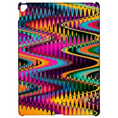 Multicolored Wave Distortion Zigzag Chevrons Apple Ipad Pro 12 9   Hardshell Case by EDDArt