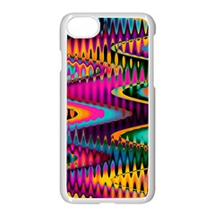 Multicolored Wave Distortion Zigzag Chevrons Apple Iphone 7 Seamless Case (white) by EDDArt