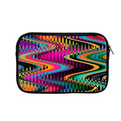 Multicolored Wave Distortion Zigzag Chevrons Apple Macbook Pro 13  Zipper Case by EDDArt