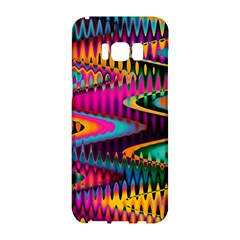 Multicolored Wave Distortion Zigzag Chevrons Samsung Galaxy S8 Hardshell Case  by EDDArt