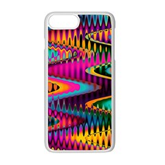 Multicolored Wave Distortion Zigzag Chevrons Apple Iphone 8 Plus Seamless Case (white) by EDDArt